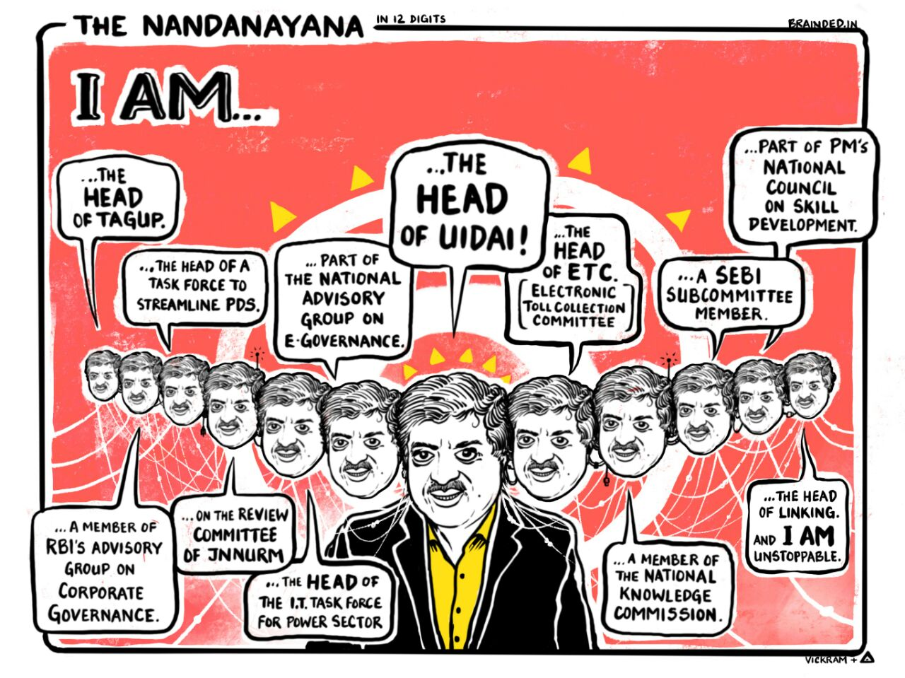 The many faces of Nandan Nilekani
